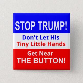 Badges Arrêtez le bouton carré des petites mains