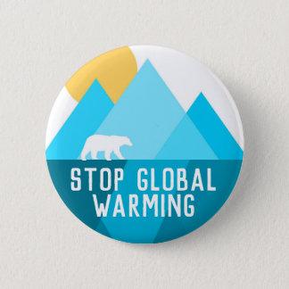 Badges Arrêtez le bouton de glacier d'ours blanc de