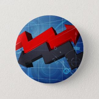Badges Arrière - plan de graphique de flèche d'affaires