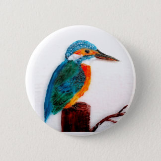 Badges Art coloré de martin-pêcheur