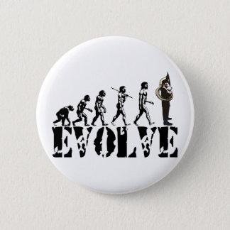 Badges Art de musical d'évolution de tubas de tuba de
