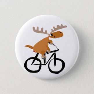Badges Art drôle d'original de bicyclette d'équitation
