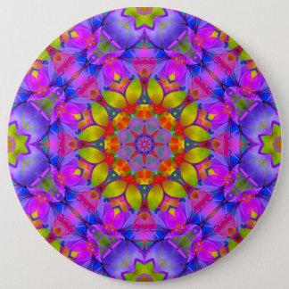 Badges Art floral G445 de fractale de bouton
