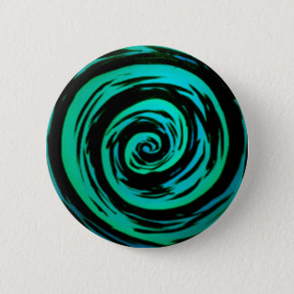 Badges Art hypnotique vert de remous