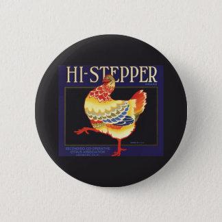Badges Art vintage d'étiquette de caisse de fruit, salut