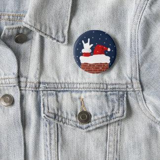 Badges ASL Père Noël avec je t'aime le bouton de Noël de