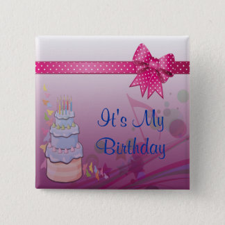 Badges Assez dans l'ensemble rose d'anniversaire