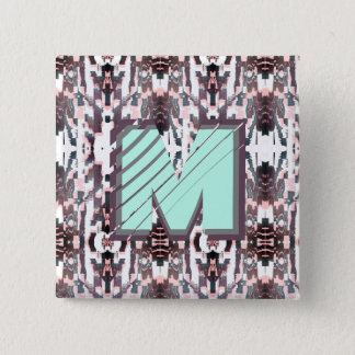 Badges Automne tôt élégant d'Ikat + Bouton de monogramme