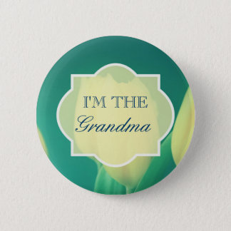 Badges Baby shower jaune de grand-maman de tulipes