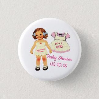 Badges baby shower pour le bouton de juin