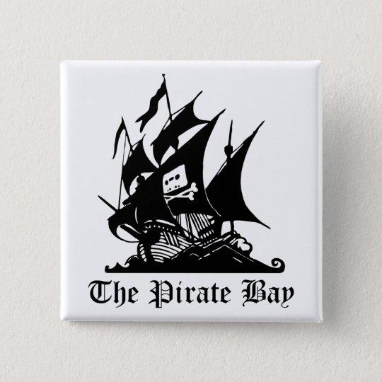 Badges Baie de pirate, piraterie illégale d'Internet de
