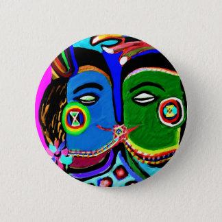 Badges Baiser passionné - style vintage d'art de caverne