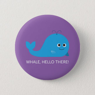 Badges Baleine, bonjour là ! Bouton