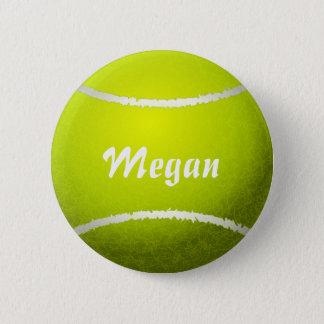 Badges Balle de tennis jaune personnalisée