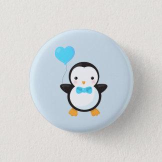 Badges Ballon mignon de coeur du pingouin w/Blue de bande
