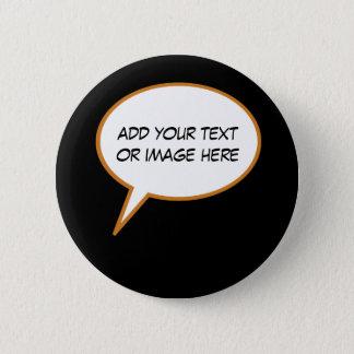 Badges ballon personalizable de la parole de bande
