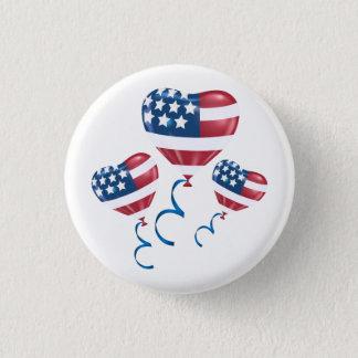 Badges Ballons heureux de coeur du 4 juillet