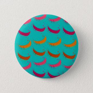 Badges Bananes exotiques de tranches de conception bleues