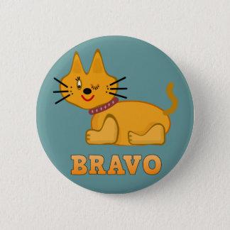 Badges Bande dessinée courageuse de bravo de tigre de