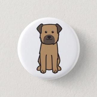 Badges Bande dessinée de chien de Terrier de frontière