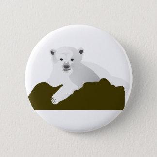 Badges Bande dessinée d'ours blanc