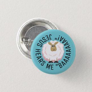 Badges Bande dessinée pelucheuse de moutons blancs