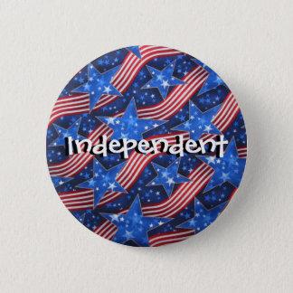 Badges bannière étoilée, indépendant, indépendant