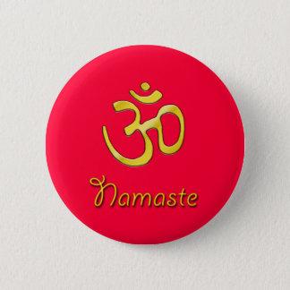 Badges Base de bouton rouge de Namaste OM/chakra de