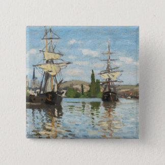 Badges Bateaux de Claude Monet   montant sur la Seine à