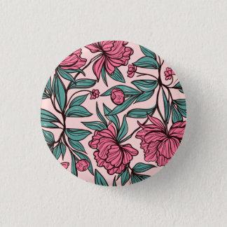 Badges Beau bouton floral rose tiré par la main de Pin de