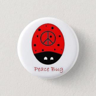 Badges blanc de bouton d'insecte de paix mini