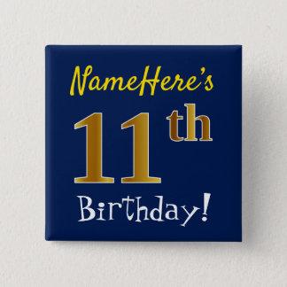 Badges Bleu, anniversaire d'or de Faux 11ème, avec le nom