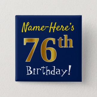 Badges Bleu, anniversaire d'or de Faux soixante-seizième,