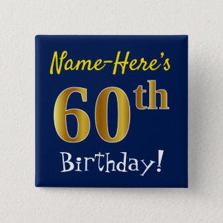 Badges Bleu, anniversaire d'or de Faux soixantième, avec