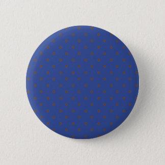 Badges Bleu Cerulean et pois brun clair