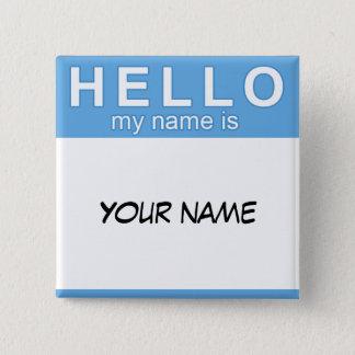 Badges Bonjour mon nom est bouton