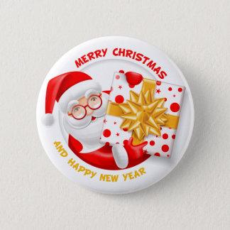 Badges Bonne année du père noël