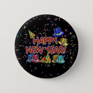 Badges Bonnes années de casquettes et confettis des