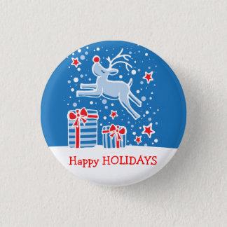 Badges Bonnes fêtes bouton/insigne de Noël de renne