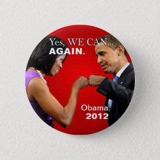 Badges Bosse de poing d'Obama - oui nous pouvons, encore