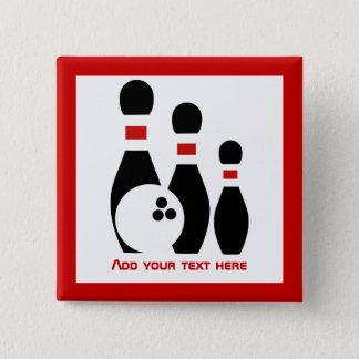 Badges Boule de bowling et rouge noir de goupilles