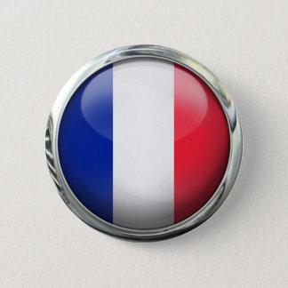 Badges Boule en verre ronde de drapeau de la France