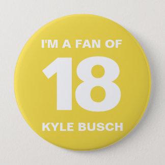 Badges Bouton   4 de fan de Kyle Busch PO. Bouton