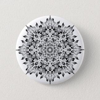 Badges Bouton argenté de blanc de flamme