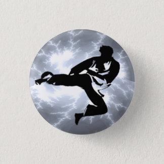Badges Bouton argenté de pinback d'homme de foudre