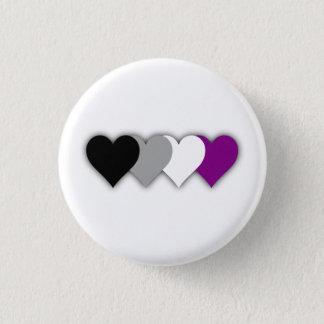 Badges Bouton asexuel de coeurs de fierté