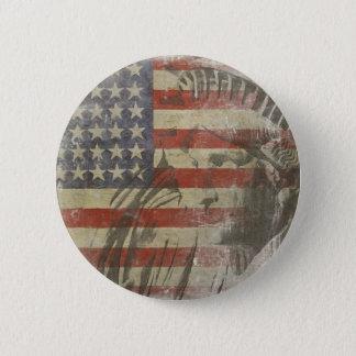 Badges Bouton avec la statue de la liberté sur le vieux