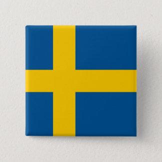 Badges Bouton avec le drapeau de la Suède