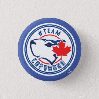Badges Bouton bleu de Capybara d'équipe (petit)
