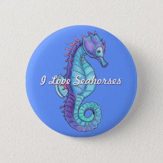 Badges Bouton bleu d'hippocampe